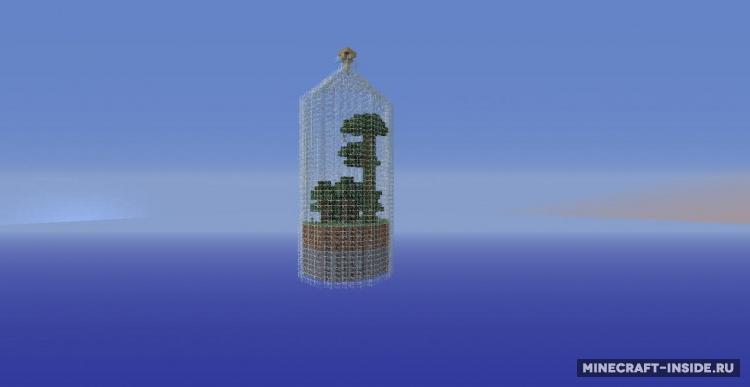 Скачать карту World in a Jar (Мир в бутылке) для Майнкрафт