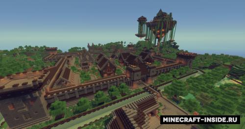 Medieval Fantasy Town [1 7 10] / Карты для Майнкрафт