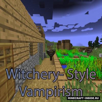 обзор мода майнкрафт вампиризм