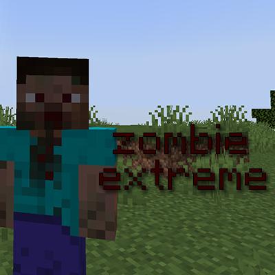 Мод на зомби и оружие для Майнкрафт 1.16.5 / 1.15.2 (Zombie Extreme)